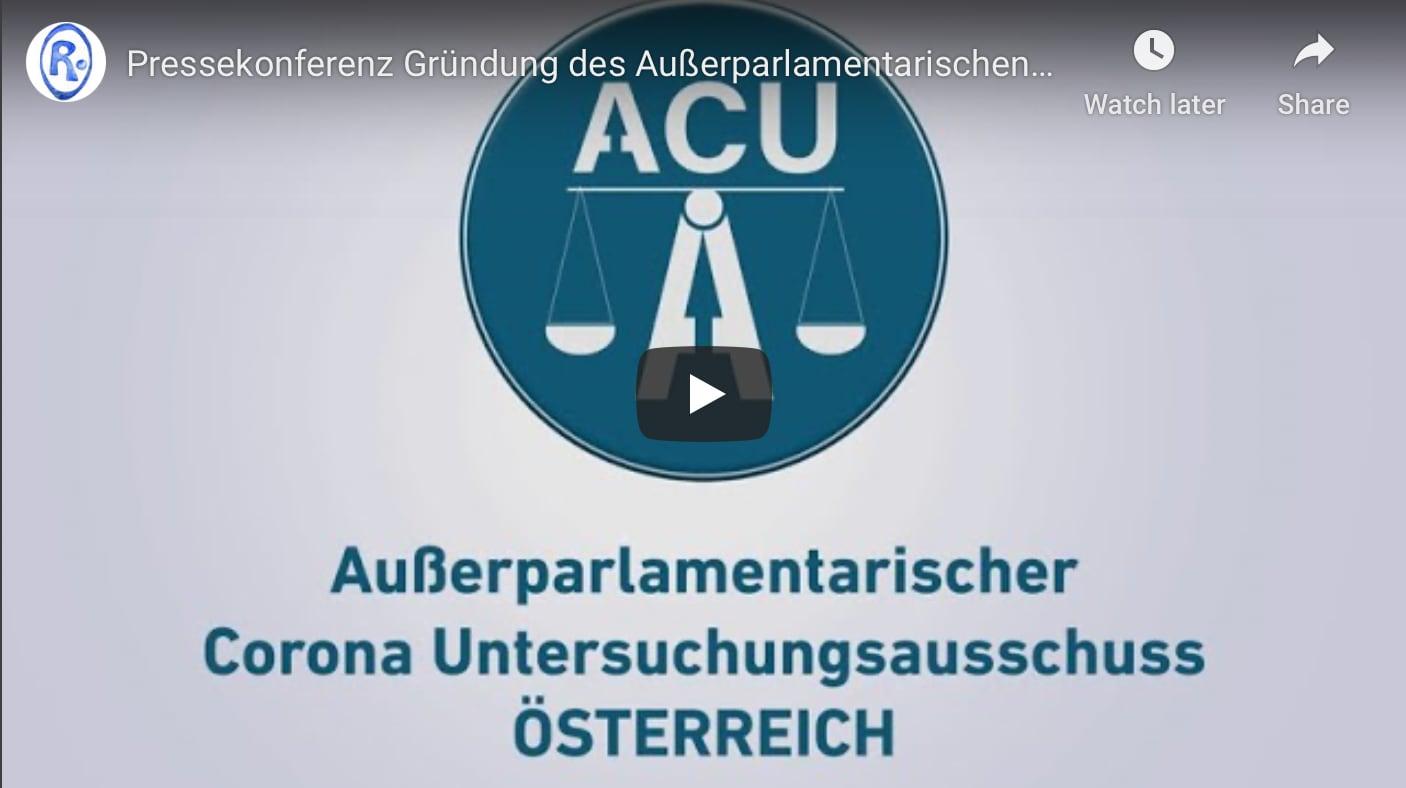Pressekonferenz Gründung ACU Austria