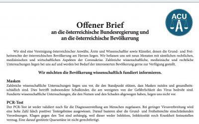 Offener Brief an die österreichische Bundesregierung und an die österreichische Bevölkerung