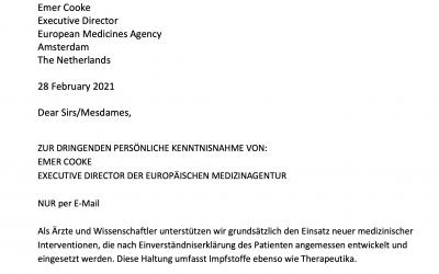 Internationales Ärztegremium wendet sich an die EMA