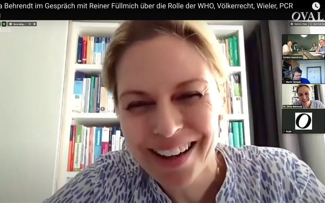 Dr. Silvia Behrendt zur Rolle der WHO und des Völkerrechts